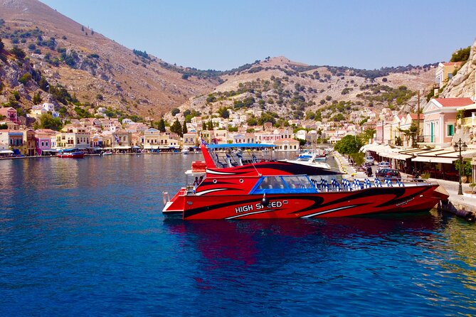 Fast Boat To Symi with a swimming stop at St George's Bay! (Only 1hr journey)