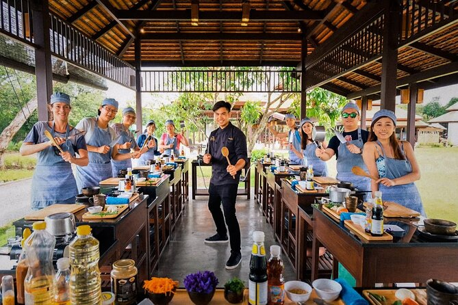 Morning Session - Thai Cooking Class in Traditional Pavilion with Beautiful Farm