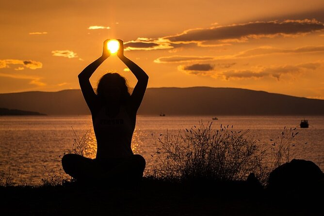 Sunset Yoga Experience in Rhodes with Traditional Snacks