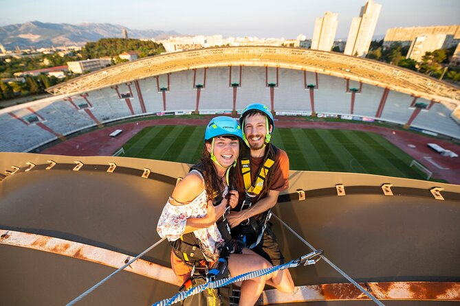 Small-Group Poljud Stadium Rooftop Free Fall Experience