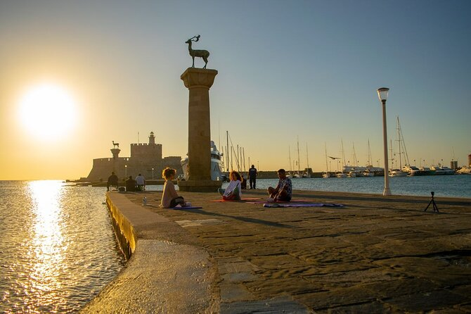 Sunrise Yoga in Colossus of the Rhodes