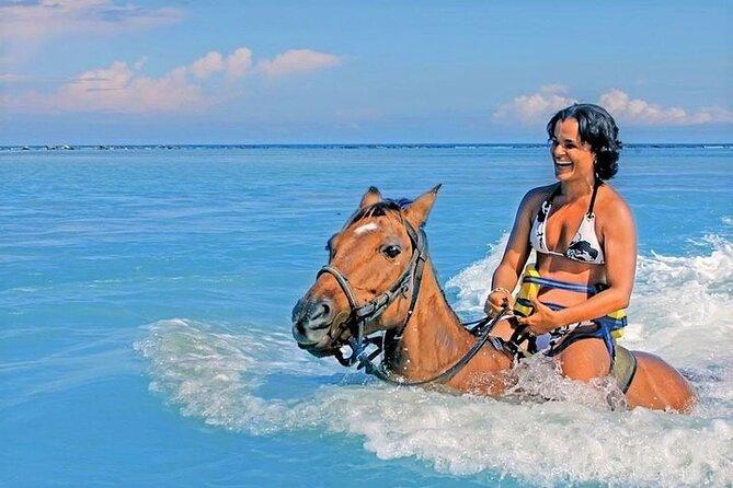 Jamaica Horseback Ride & Swim: Trail Ride & Swim Horseback in the Caribbean Sea