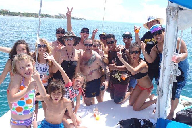 Catamaran party Cancun to Isla mujeres