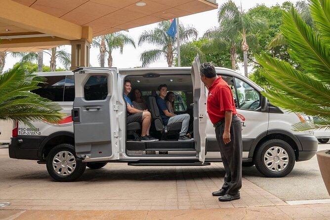 Private Van transfer: Long Beach & San Pedro Cruise Terminals to LGB airport