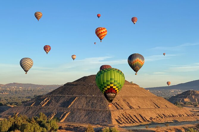 Hot Air Balloon Flight over Teotihuacan, from Mexico City
