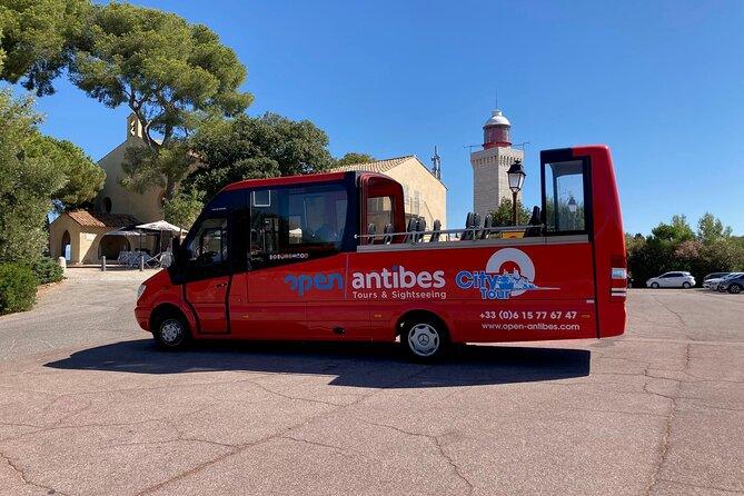 Visit of Antibes Juan-Les-Pins by convertible bus