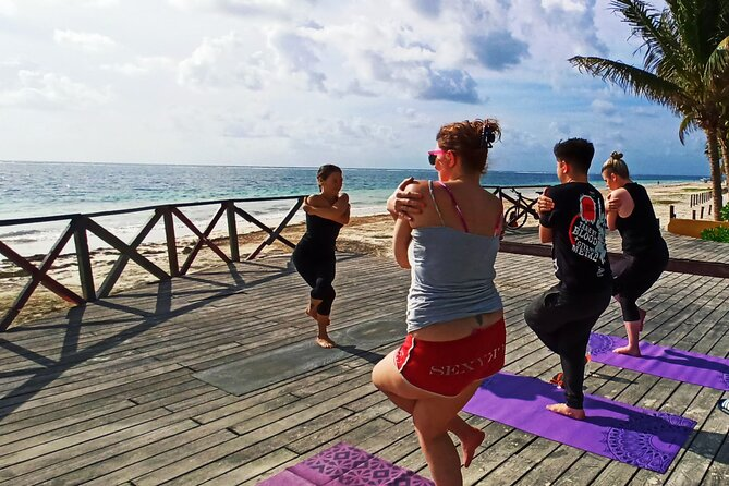 ✋Playa del carmen Caribbean Breeze Yoga on the beach from Playa del carmen