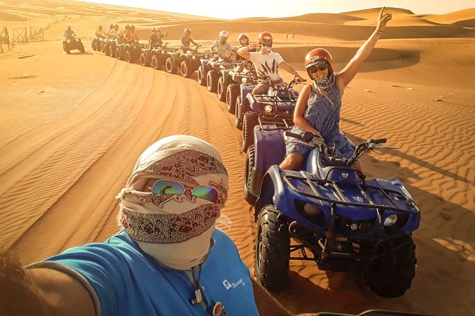 Red Dunes By Quad Bike, Sandsurf, Camels & BBQ at Al Khayma Camp