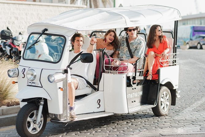 Express tour of Malaga by electric tuk-tuk