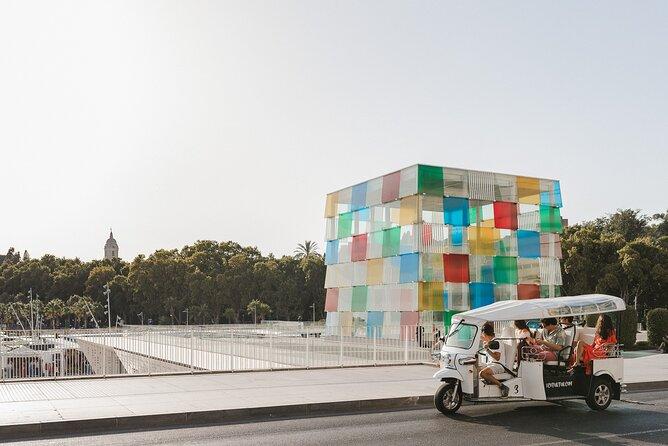 Welcome tour to Malaga by electric tuk-tuk