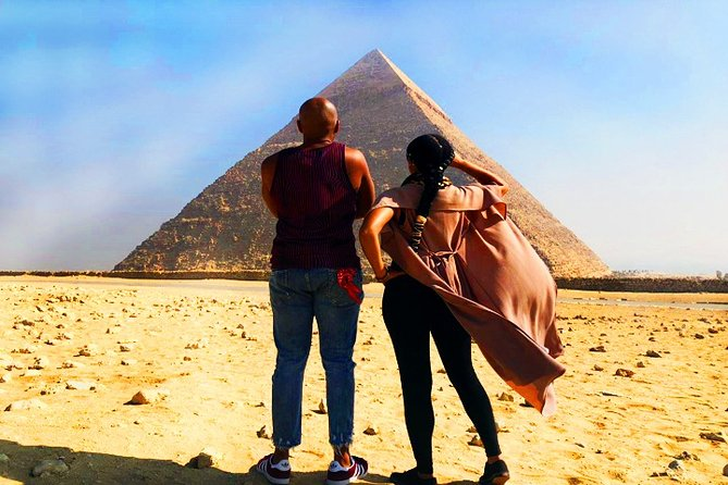 Giza pyramids and Sphinx Tour- Camel Ride & Shopping Places