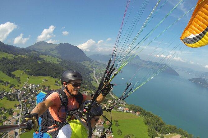 Tandem Paragliding Flight in the Lucerne Region