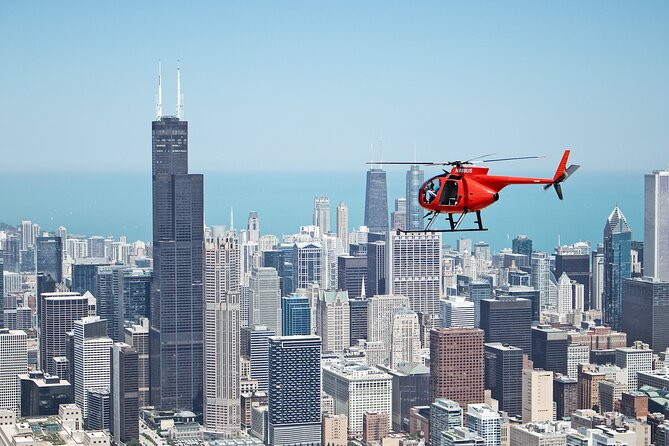 45 Minute Chicago Helicopter Skyline Tour (voor 3 passagiers)