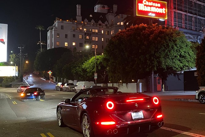 Private Ferrari California T Drive from Hollywood to Sunset Plaza