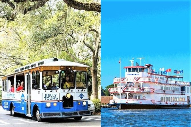Savannah Land & Sea Combo: City Sightseeing Trolley Tour with Riverboat Cruise