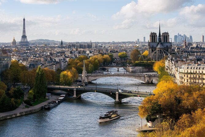 Seine River Commented Cruise Direct Access Ticket with Vedettes de Paris