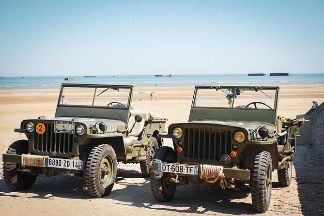 Jeeps on the gold beach sector
