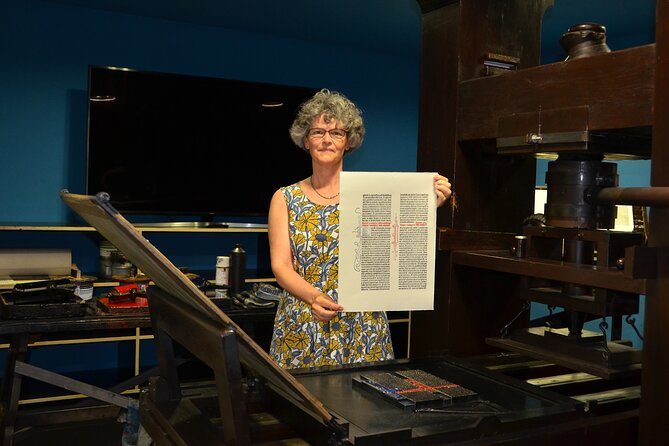 Printing demonstration - the finished page hot off the press!