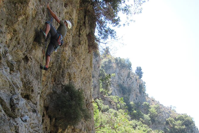 Private Rock Climbing in Therisos Gorge Chania with a Guide