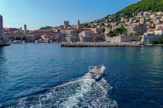 Sea Side Panorama of Dubrovnik and City Walls
