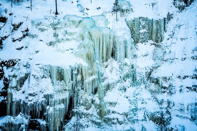 Photography Tour at Korouoma Frozen Waterfalls