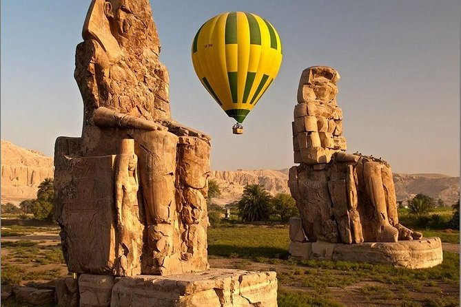 over night by train from Cairo to luxor with hot air balloon