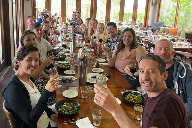 One course restaurant lunch + glass of wine/beer on Zepher Tours