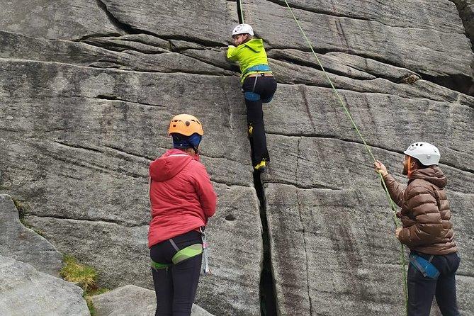 Outdoor Rock Climbing Taster Day in Peak District