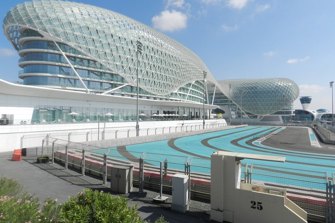 Abu Dhabi Sheikh Zayed Mosque tour Ferrari world formula one track from Dubai