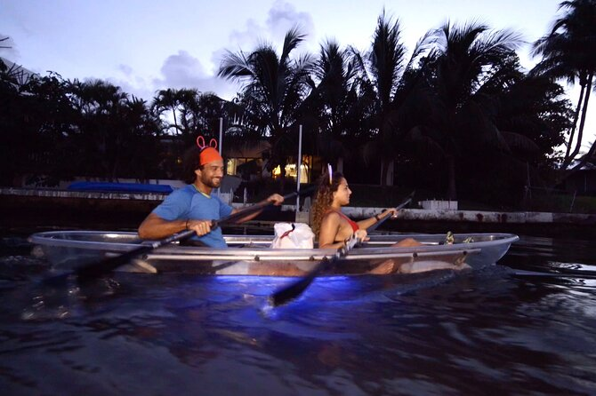 Neon Nights CLEAR Kayak Indian Creek paddle with Champagne Toast!