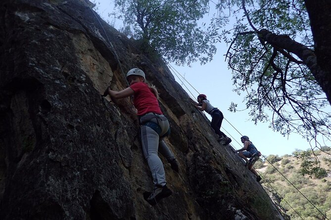 Full Day Climbing and Rappel Baptism in Patones