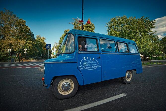 Retro minibus on the streets of Warsaw
