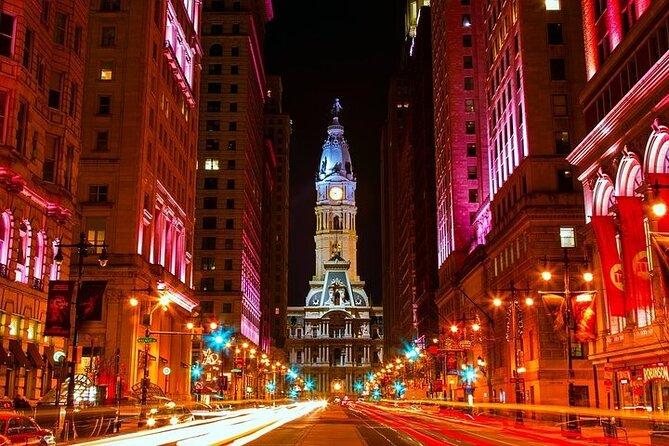 Philadelphia Night-Time City Tour on Double Decker Bus