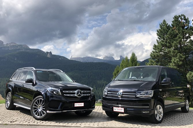 Transfer from Cortina d'Ampezzo to Venice Marco Polo airport or Mestre station