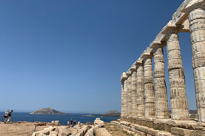 Sounion Highlights: Vouliagmeni, Olive Farm, Poseidon Temple, Thorikos Theatre