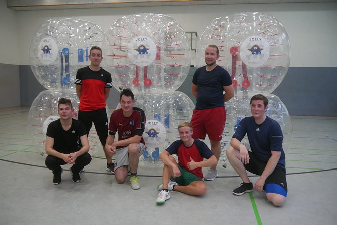 Bubble soccer in the center of Hamburg with beer / champagne