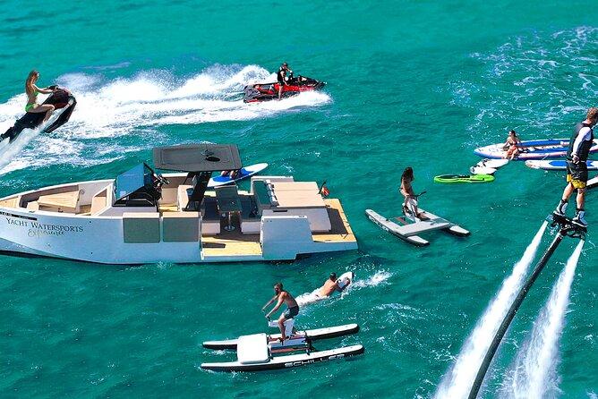 Ibiza's No. 1 activity! Luxury designer yacht + 6 top luxury watersports!
