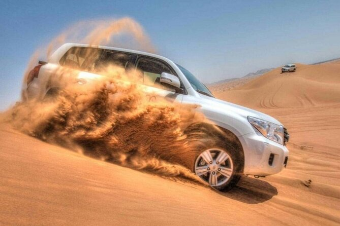 Dubai Desert Safari with Camel Riding, Sand Boarding,BBQ Dinner and 3 Live Shows