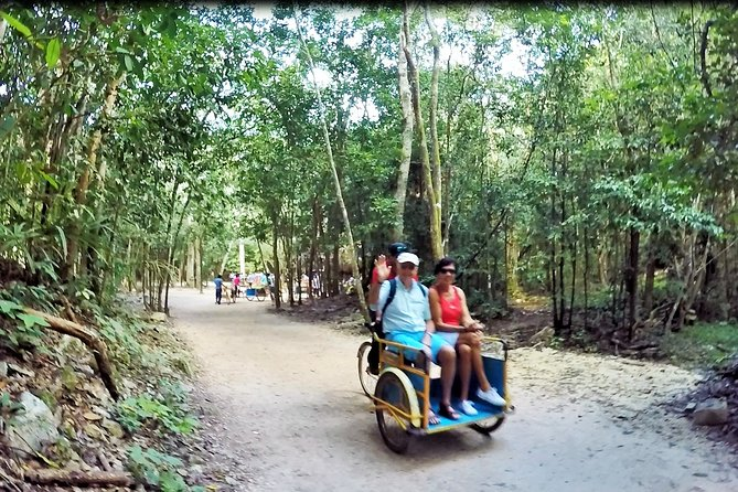 Coba Ruins Sunset Tour by Bike with Cultural or Extreme Activity and Dinner Show