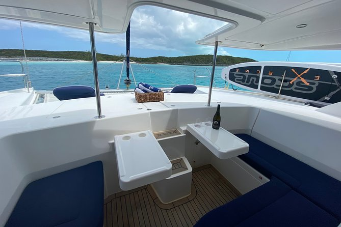 Front and rear sitting areas make our catamaran unique in this world.