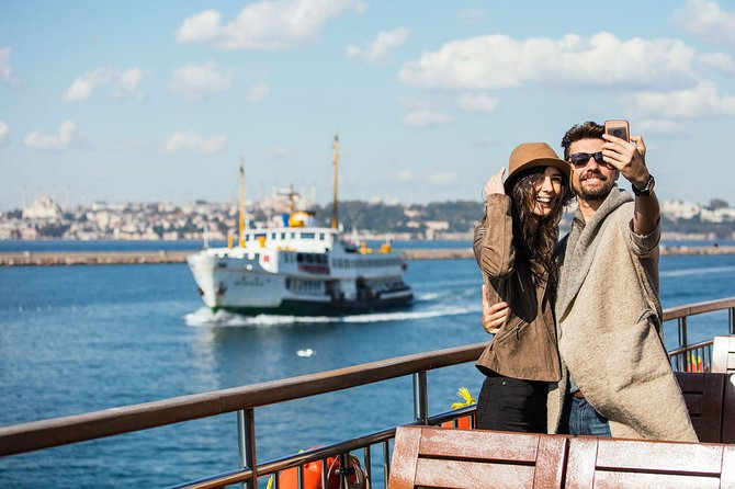 Bosphorus Cruise by Public Ferry with Dolmabahce Palace and Spice Market Tour