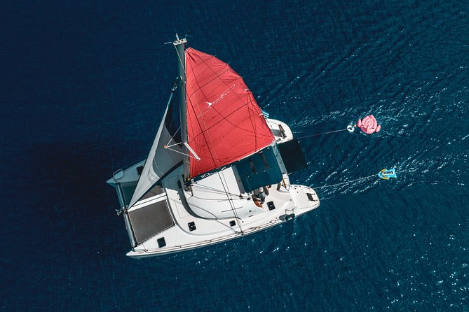 Luxe boat trip on sailing catamaran, Heraklion, Crete