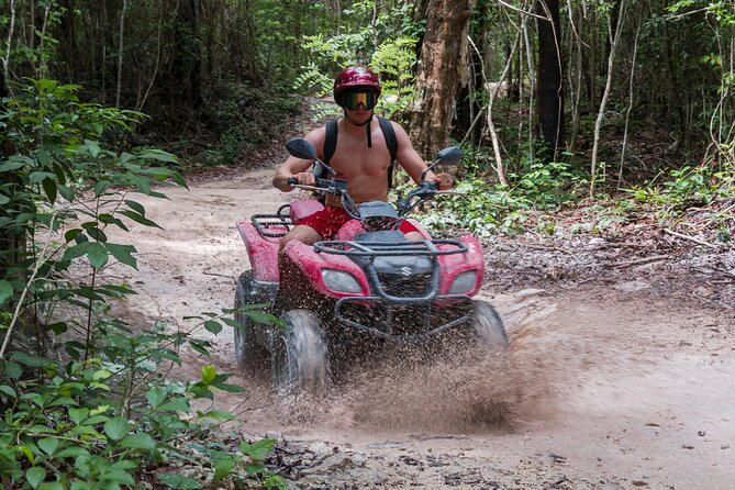 ATV Mud Kicking and Snorkeling Experience in Cozumel (Private)