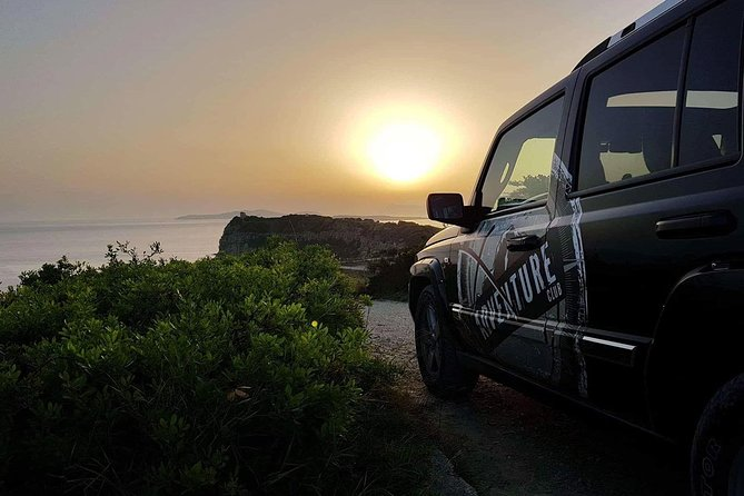 Private Sunset Jeep Safari in North West Corfu with Dinner