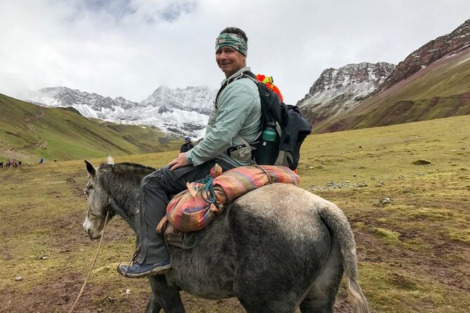 Rainbow Mountain on horseback