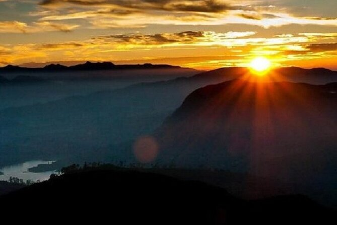 Diyaluma waterfall : Enjoy amazing sunrise from top of upper Diyaluma waterfall.