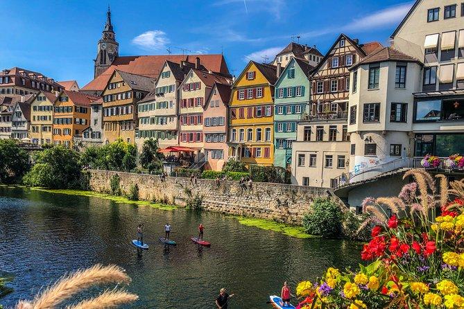Stand up paddling SUP rental station in Tübingen