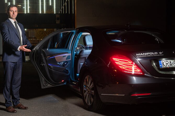 Cracow to airport transfer by Luxurious VIP limo
