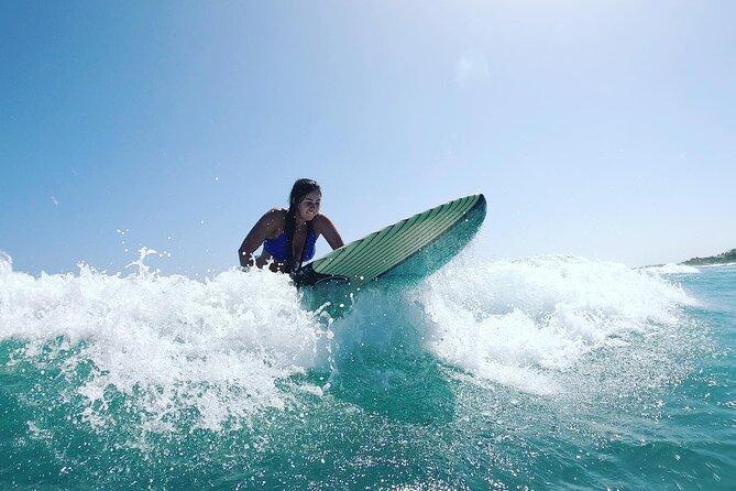Ultimate Surf Lesson in Tulum 1hr