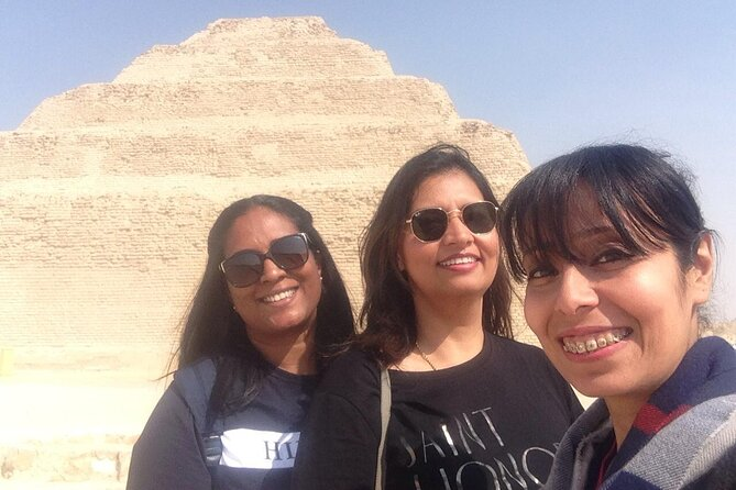 private tour to Giza pyramids sakkara Memphis city from Cairo and Giza hotels